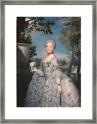 Maria Luisa Of Parma Framed Print by Anton Raffael Mengs