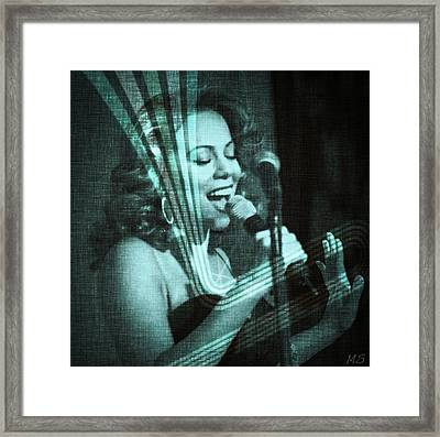 Mariah Carey - Beautiful Alchemy Framed Print by Absinthe Art By Michelle LeAnn Scott