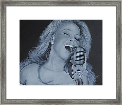 Mariah Carey Framed Print by David Dunne