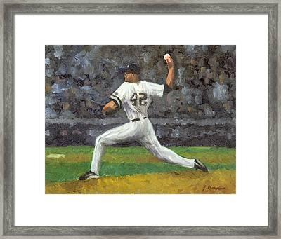 Mariano Rivera Framed Print by Joe Maracic