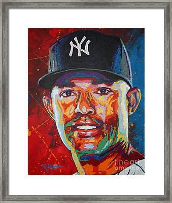 Mariano Rivera Framed Print by Maria Arango
