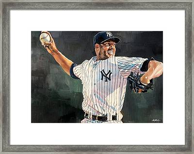 Mariano Rivera - New York Yankees Framed Print by Michael  Pattison