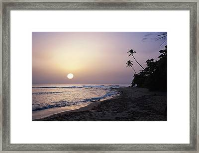 Marias Beach Sunset Rincon Puerto Rico Framed Print by George Oze
