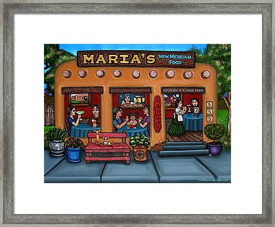 Maria's New Mexican Restaurant Framed Print by Victoria De Almeida
