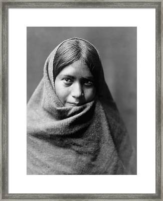 Maricopa Indian Woman Circa 1907 Framed Print by Aged Pixel