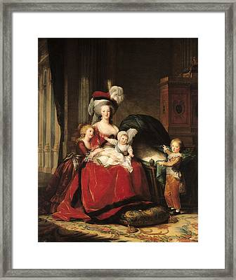 Marie Antoinette And Her Children Framed Print by Elisabeth Louise Vigee-Lebrun