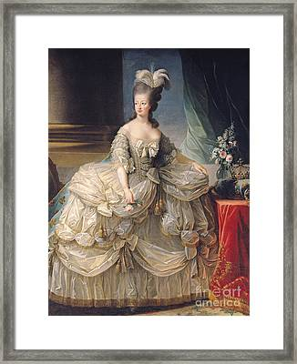 Marie Antoinette Queen Of France Framed Print by Elisabeth Louise Vigee-Lebrun