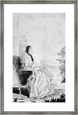 Marie De Vichy-chamrond (1679-1780) Framed Print by Granger