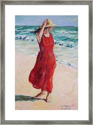 Mariela On Bonita Beach Framed Print by Herschel Pollard