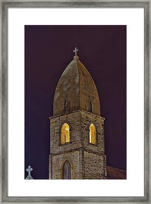 Marienkirche At Night Framed Print by Gary Holmes