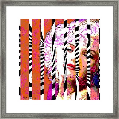 Marilyn 130 A Framed Print by Theo Danella
