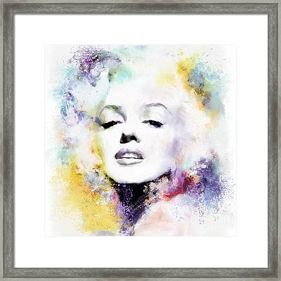 Marilyn American Beauty Framed Print by Shanina Conway