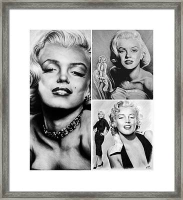 Marilyn Collage Framed Print by Andrew Read