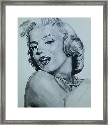 Marilyn Monroe Framed Print by Aaron Balderas