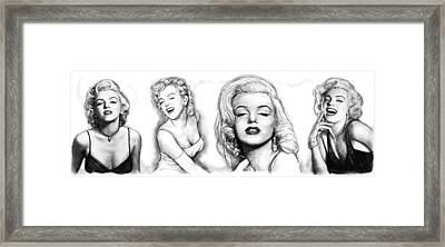 Marilyn Monroe Art Long Drawing Sketch Poster Framed Print by Kim Wang