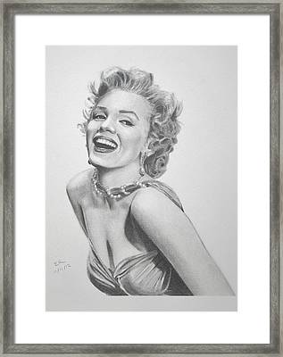 Marilyn Monroe Framed Print by Enrique Garcia