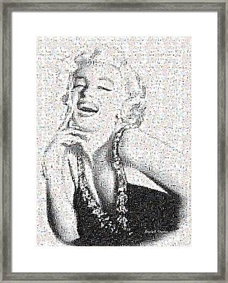 Marilyn Monroe In Mosaic Framed Print by Angela A Stanton