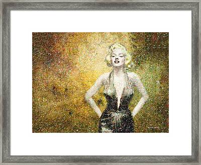 Marilyn Monroe In Points Framed Print by Angela A Stanton
