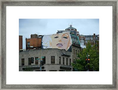 Marilyn Monroe In Woodley Park Framed Print by Cora Wandel