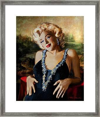 Marilyn Monroe  Mona Lisa  Framed Print by Theo Danella