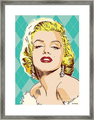 Marilyn Monroe Pop Art Framed Print by Jim Zahniser