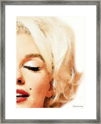 Marilyn Monroe - Sigh Framed Print by Sharon Cummings