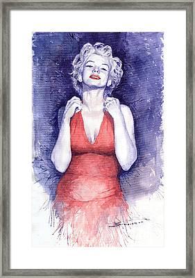 Marilyn Monroe Framed Print by Yuriy  Shevchuk