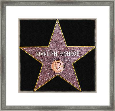 Marilyn Monroe's Star Painting  Framed Print by Bob and Nadine Johnston