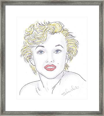 Marilyn Framed Print by Steven White