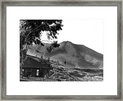 Marin County Home Framed Print by Underwood Archives