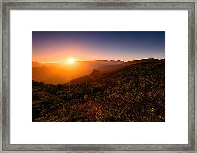 Marin County Sunset Framed Print by Alexis Birkill