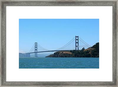 Marin County View Of The Golden Gate Bridge Framed Print by Connie Fox