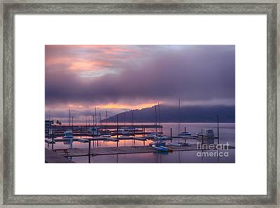 Marina Aglow Framed Print by Idaho Scenic Images Linda Lantzy