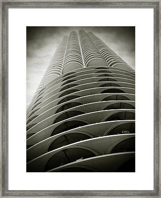 Marina City Chicago Il Framed Print by Christine Till