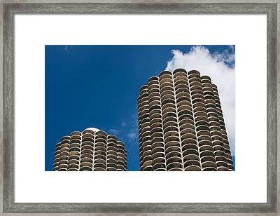 Marina City Morning Framed Print by Steve Gadomski
