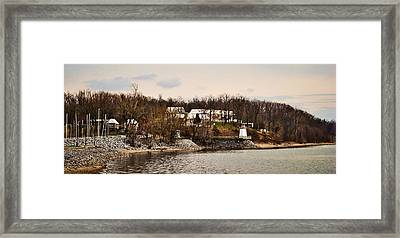 Lighthouse Landing Marina Inlet - Kentucky Lake Framed Print by Greg Jackson
