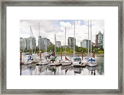 Marina Vancouver Framed Print by Ivy Ho