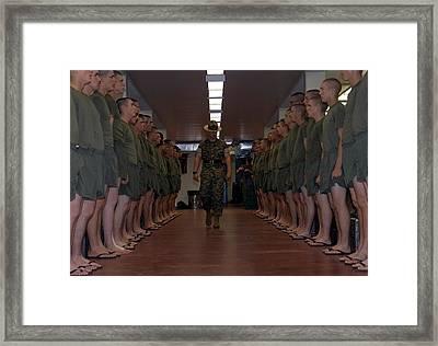 Marine Basic Training Framed Print by Mountain Dreams