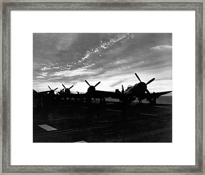 Marine Corsair F4us Framed Print by Underwood Archives