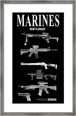 Marines Ready To Engage Framed Print by Daniel Hagerman