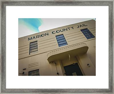 Marion County Jail Framed Print by Jon Stephenson