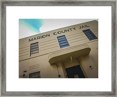 Marion County Jail Framed Print by Jon Stephenson