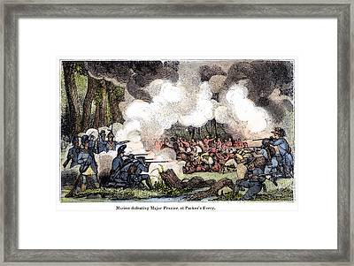 Marion: Parkers Ferry, 1781 Framed Print by Granger
