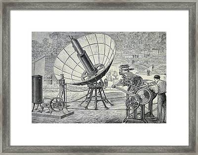 Marioni Printing Press Framed Print by Universal History Archive/uig