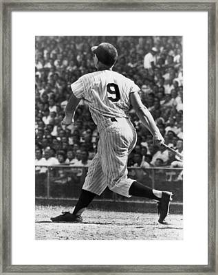 Maris Hits 52nd Home Run Framed Print by Underwood Archives