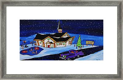 Maritime Christmas Framed Print by Holly Everett