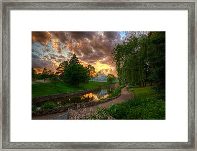 Marjorie Mcneely Conservatory Reflections Framed Print by Wayne Moran