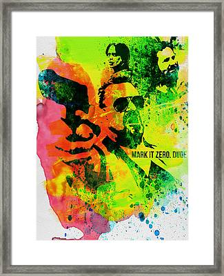 Mark It Zero Watercolor Framed Print by Naxart Studio