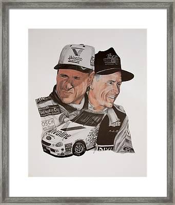 Mark Martin Race Car Driver Framed Print by Joe Lisowski