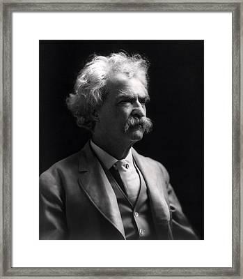 Mark Twain  Framed Print by Daniel Hagerman